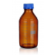 Reagent bottles with screw GL 32 acc. to DIN- complete, brown