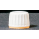 Stopper with screw-off ring white / yellow