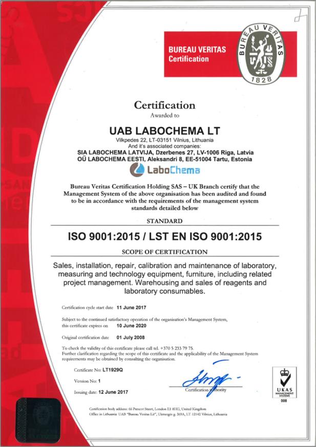 Labochema ISO 9001